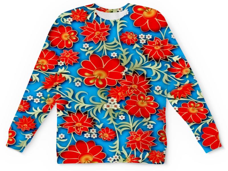 Детский свитшот унисекс Printio Красные цветы детский свитшот унисекс printio цветы