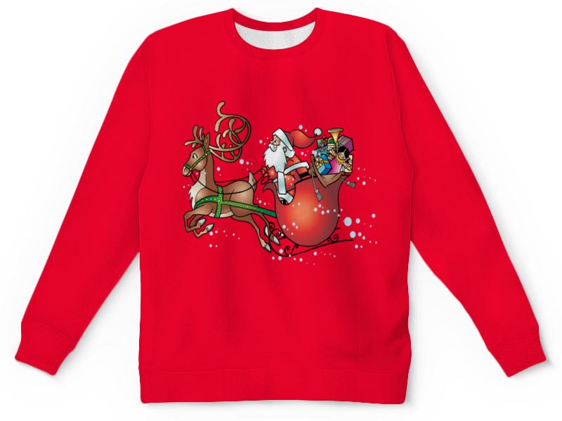 Детский свитшот унисекс Printio Новогодние сани ирина вязова новогодние игрушки