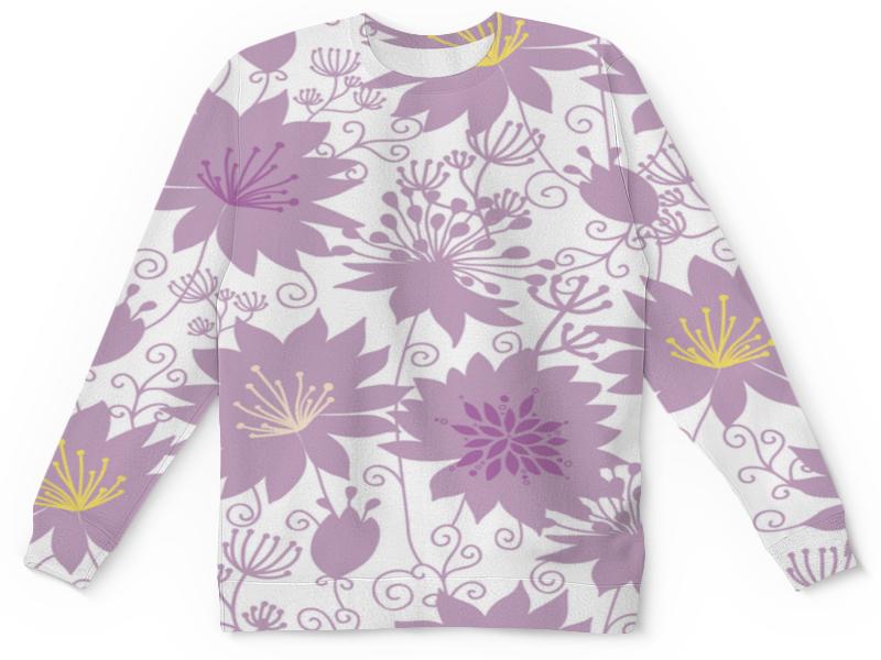 Детский свитшот унисекс Printio Фиолетовые цветы