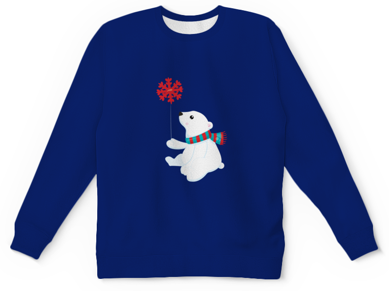 Детский свитшот унисекс Printio Белый медведь свитшот print bar медведь тед