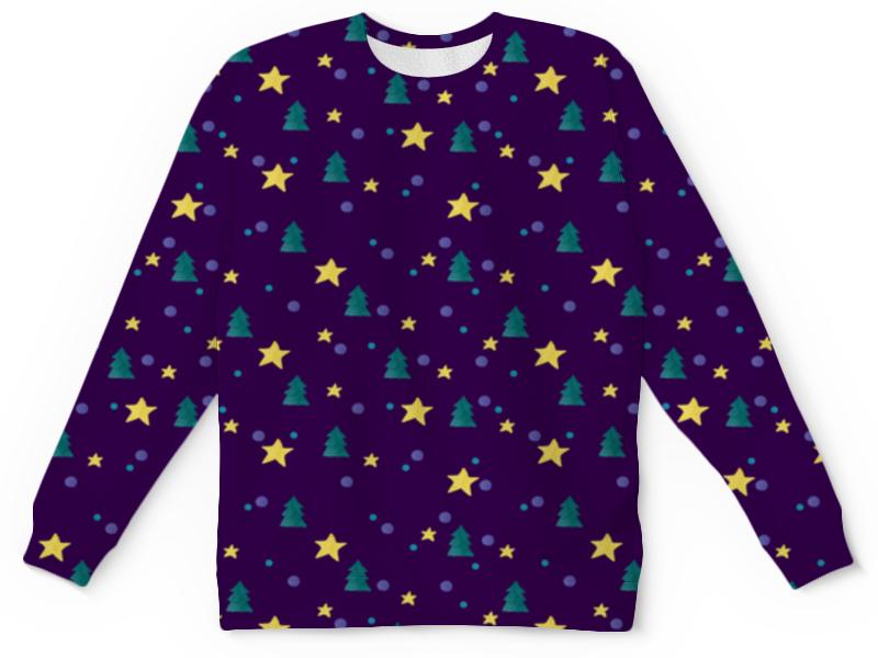 Детский свитшот унисекс Printio Елки и звезды елагин и тяжелые звезды
