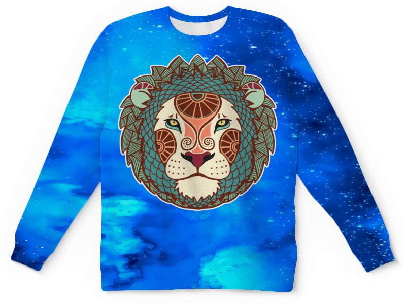 купить Детский свитшот унисекс Printio Зодиак-лев недорого