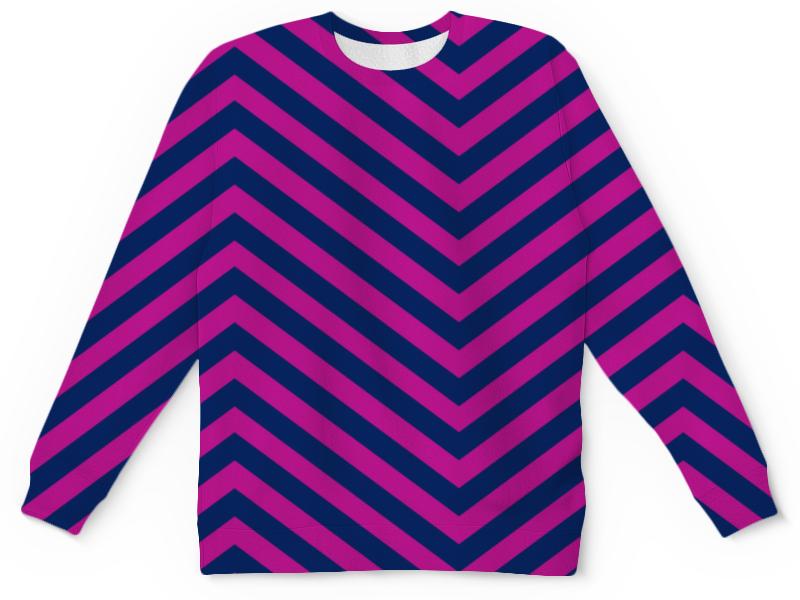 Детский свитшот унисекс Printio Фиолетовые полосы