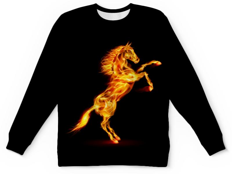 Детский свитшот унисекс Printio Огненная лошадь детский костюм озорного клоуна 34