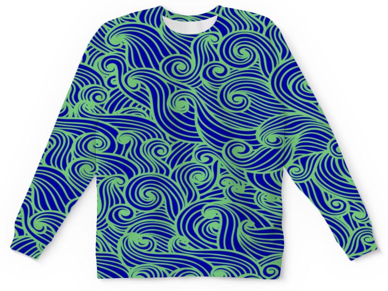 Детский свитшот унисекс Printio Морская волна