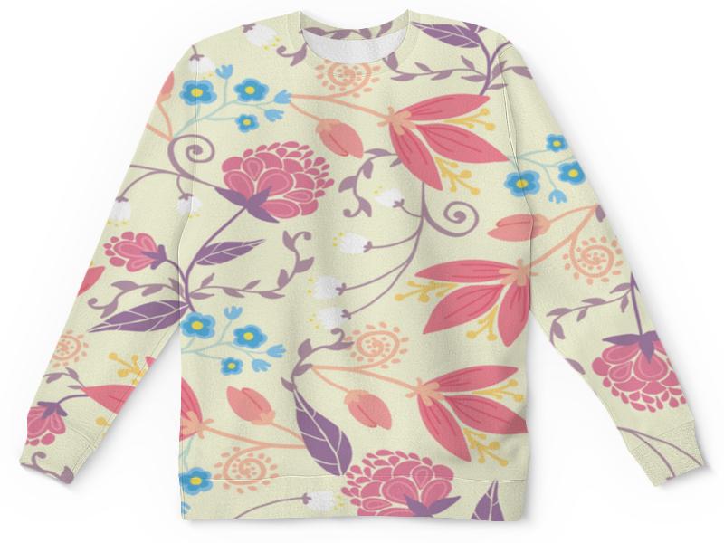 Детский свитшот унисекс Printio Весенние цветочки цены онлайн