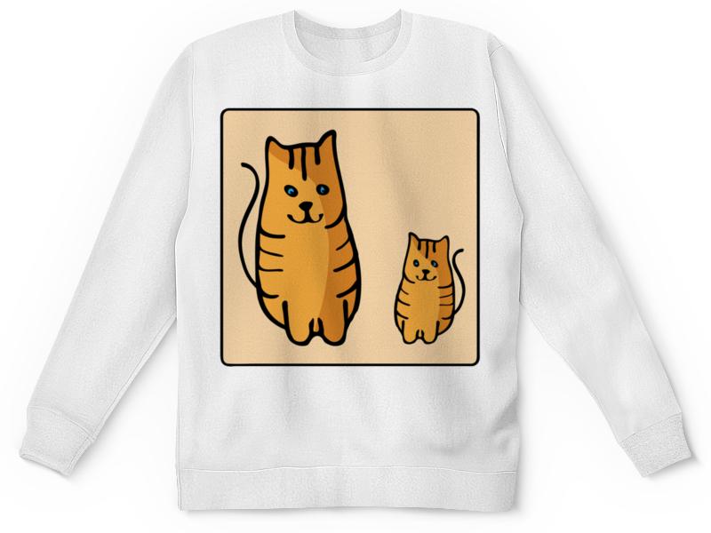 Детский свитшот унисекс Printio Два котика, смотрящие друг на друга неизвестный друг