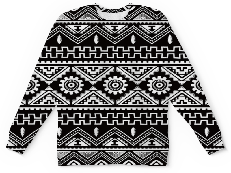 Детский свитшот унисекс Printio Черно-белая графика цена и фото