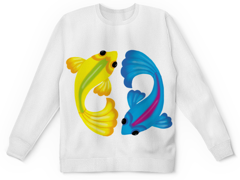 Детский свитшот унисекс Printio Рыбки цена и фото