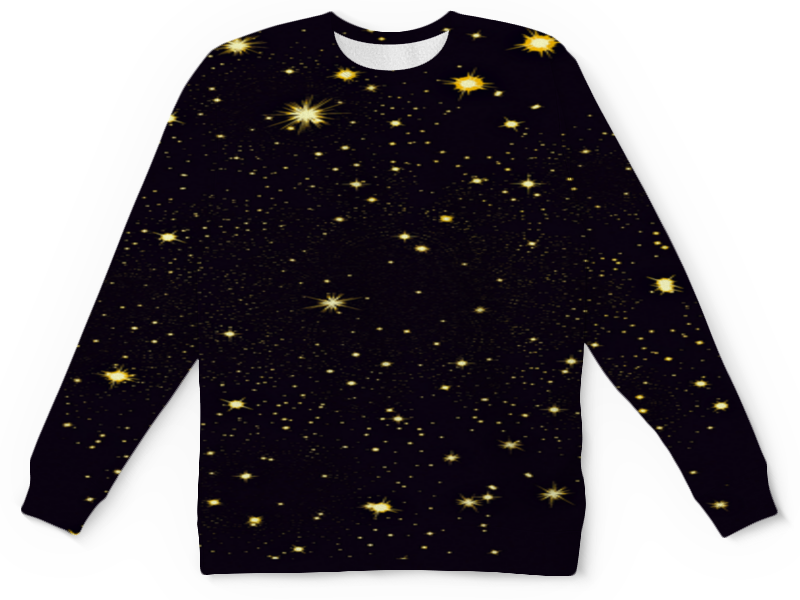 Детский свитшот унисекс Printio Звездочки на темнеющем небе.