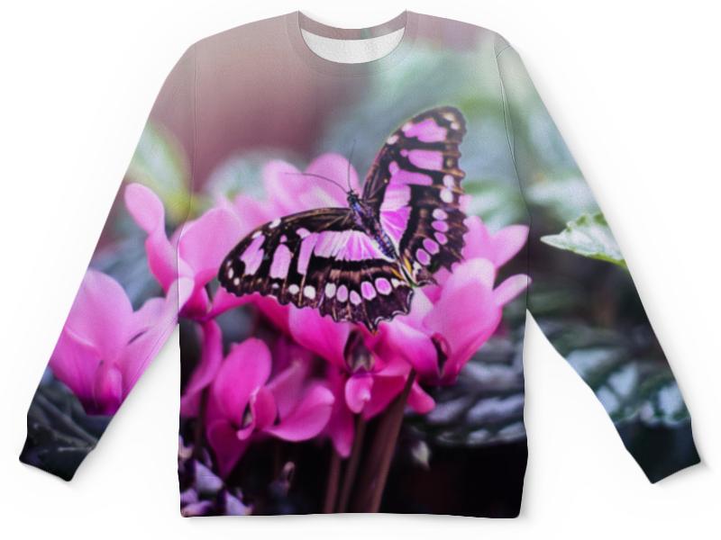 Детский свитшот унисекс Printio Бабочка на цветах детский свитшот унисекс printio бабочка