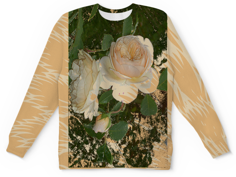 Детский свитшот унисекс Printio Кремовая роза. цена и фото