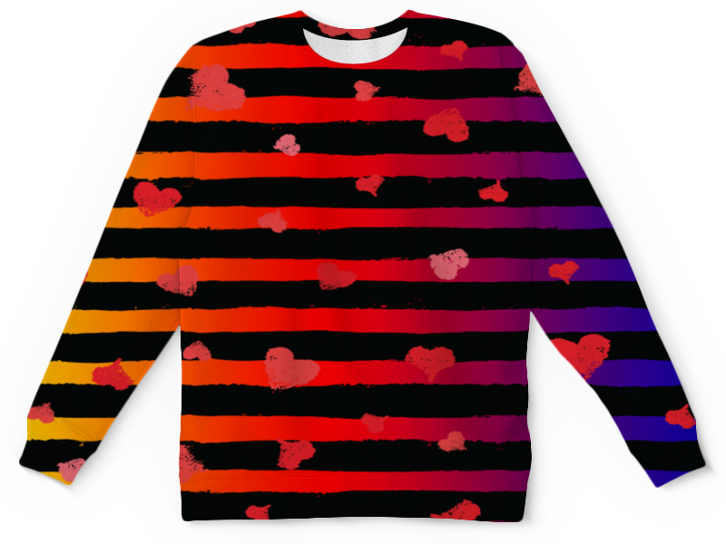 Детский свитшот унисекс Printio Узор сердечек детский свитшот унисекс printio узор сердец