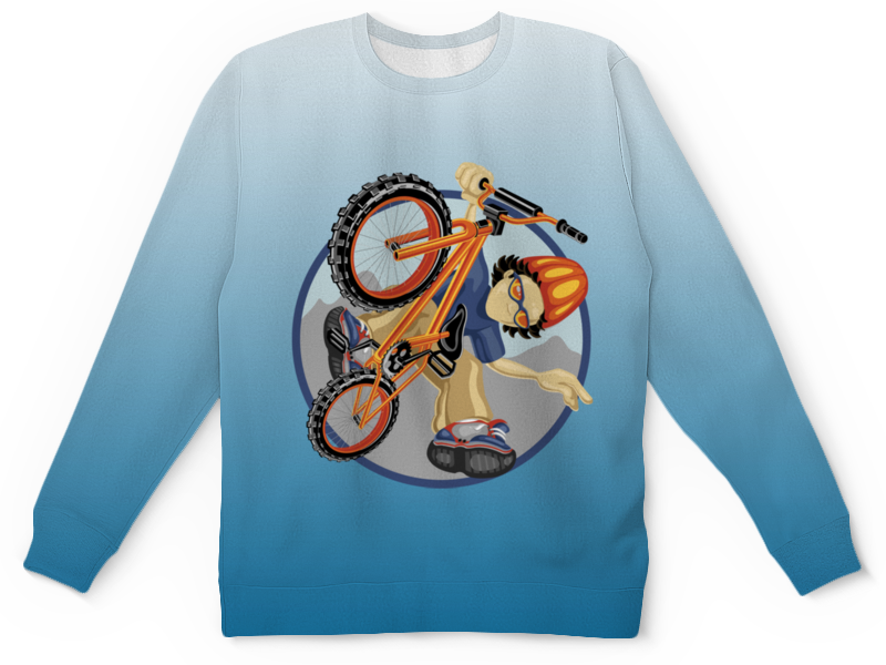 Детский свитшот унисекс Printio Велосипед детский велосипед riverbike f 18 красный rivertoys