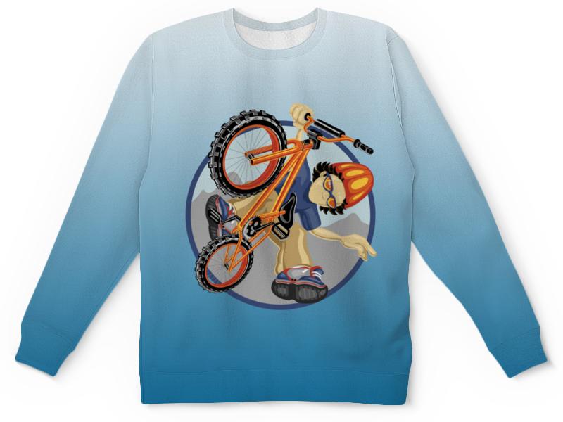 Детский свитшот унисекс Printio Велосипед костюм озорного клоуна детский 32 34