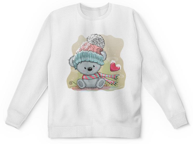 Детский свитшот унисекс Printio Мишка в шапочке лыкова и шипунова в мишка одевается беседы по картинкам о пижаме носочках шортиках рукавичках шубке и шапочке 1 3 года