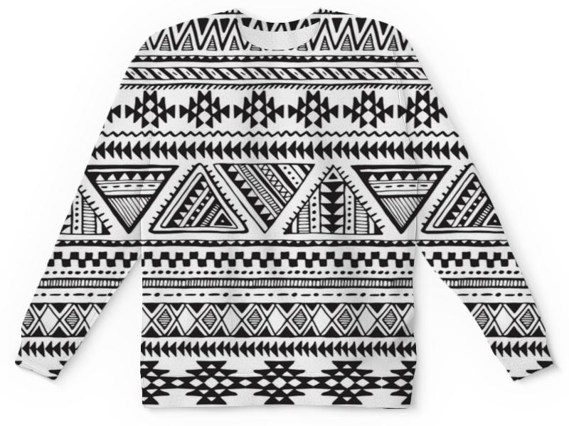 Детский свитшот унисекс Printio Черно-белая графика majaly платье majaly madonna sea черно белая полоска принт