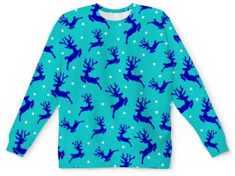 Детский свитшот унисекс Printio Рождественские олени