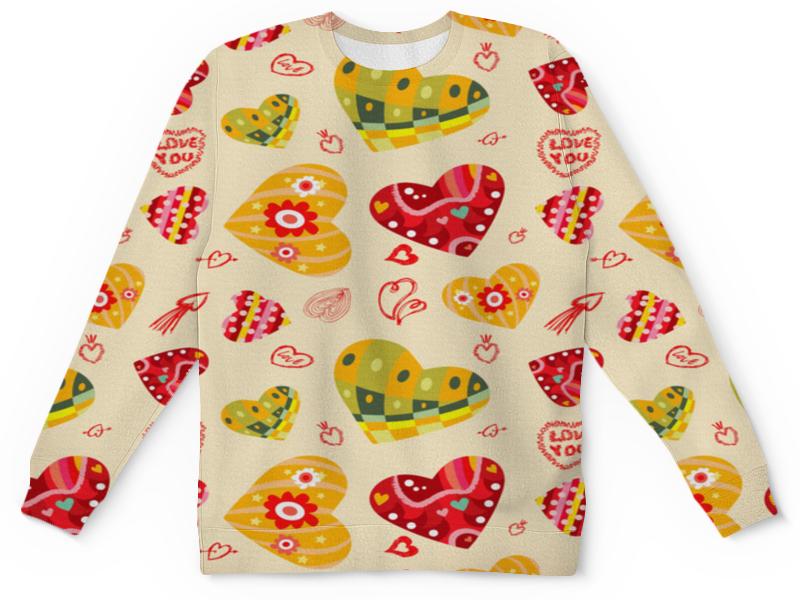 Детский свитшот унисекс Printio Сердечки цветные детский свитшот унисекс printio цветные ромбы