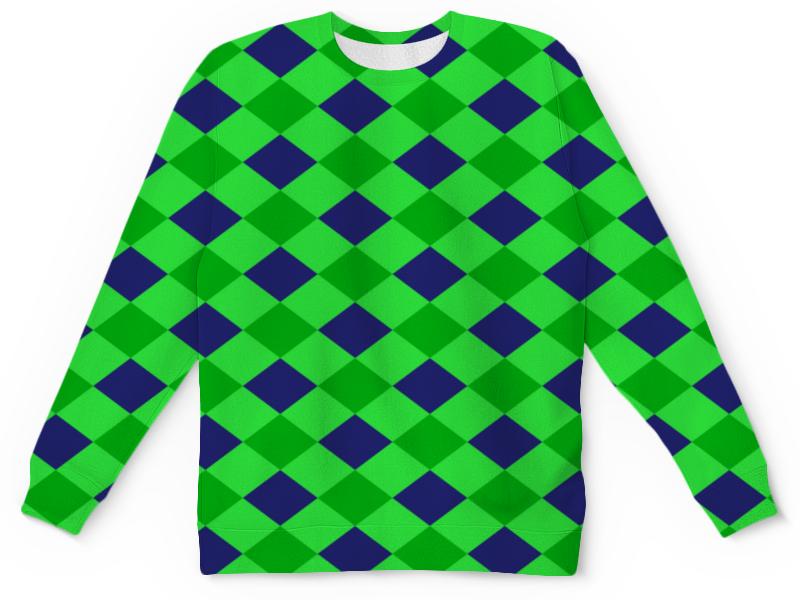 Детский свитшот унисекс Printio Сине-зеленые квадраты мастак зеленые