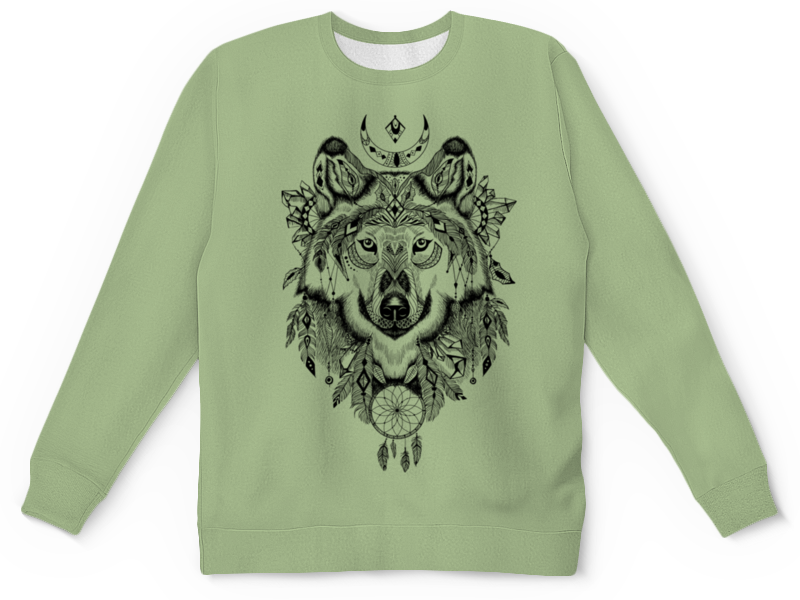 Детский свитшот унисекс Printio Тотем. волк детский свитшот унисекс printio лапа волка