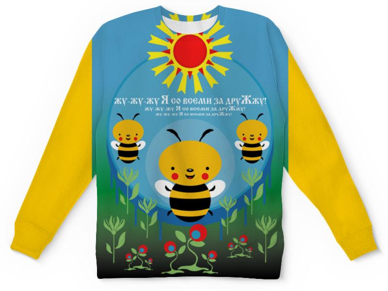 Детский свитшот унисекс Printio Пчелка жужа