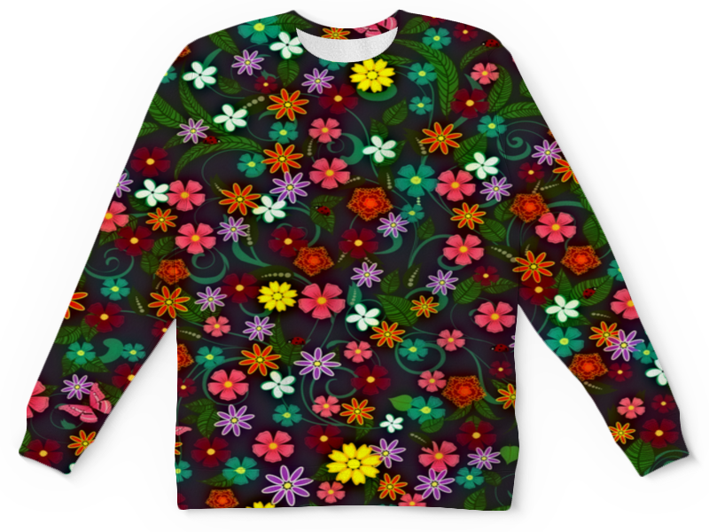 Детский свитшот унисекс Printio Цветочный детский свитшот унисекс printio цветочный сад
