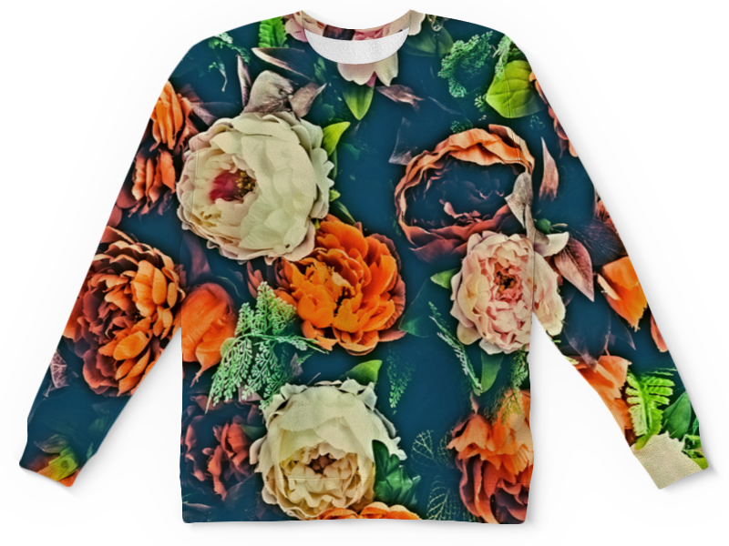 Детский свитшот унисекс Printio Flowers цена