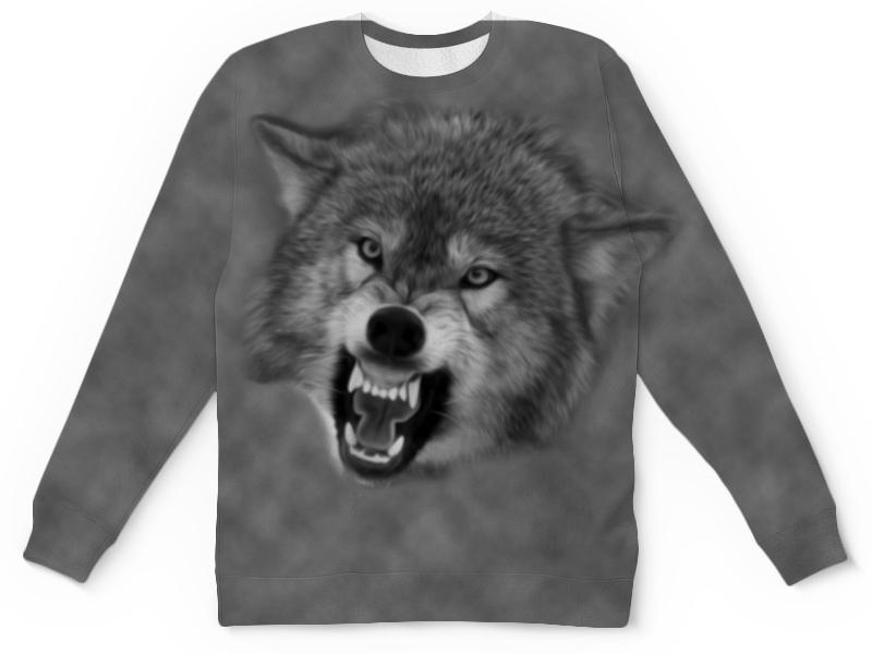 Детский свитшот унисекс Printio Оскал волка детский свитшот унисекс printio лапа волка