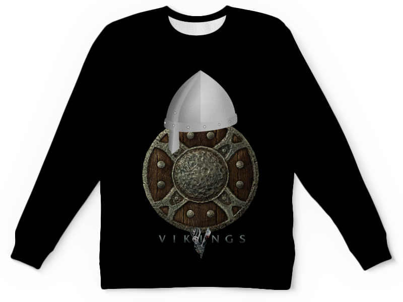 Детский свитшот унисекс Printio Викинги. vikings