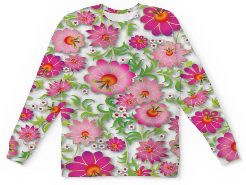 Детский свитшот унисекс Printio Розовые цветы детский свитшот унисекс printio цветы