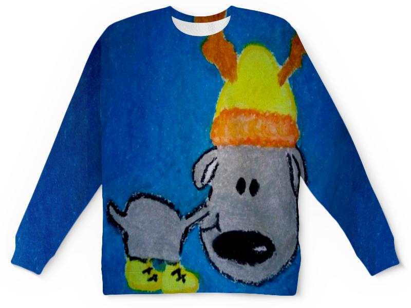 Детский свитшот унисекс Printio Новогодний лось ирина лазарева лось в облаке