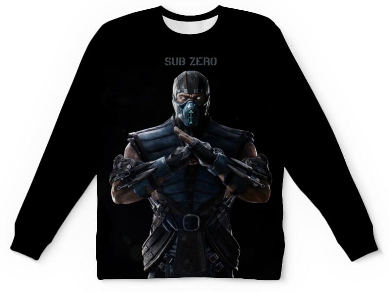 Детский свитшот унисекс Printio Mortal kombat x (sub-zero) свитшот унисекс с полной запечаткой printio свитшот mortal kombat x sub zero
