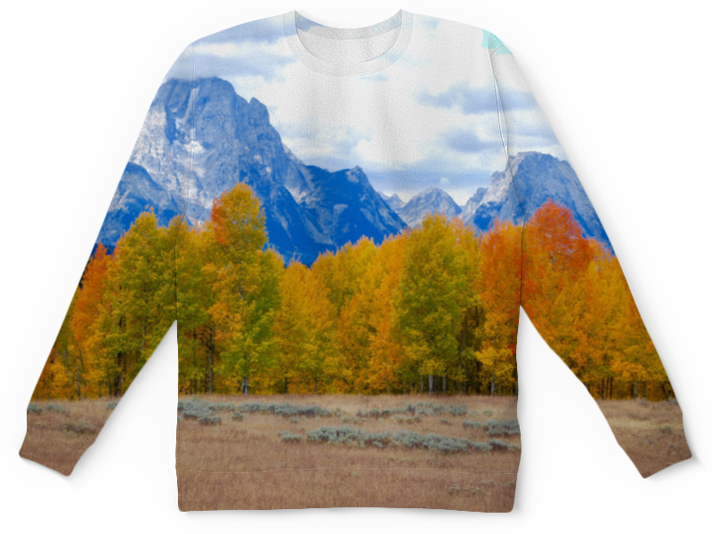 Детский свитшот унисекс Printio Деревья в горах цена