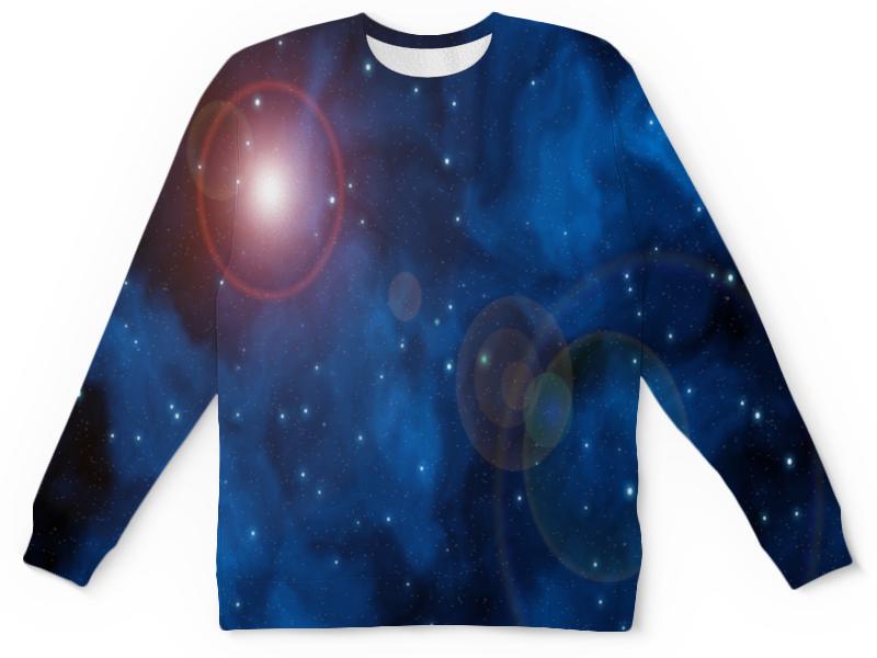 Детский свитшот унисекс Printio Вспышки в космосе цена