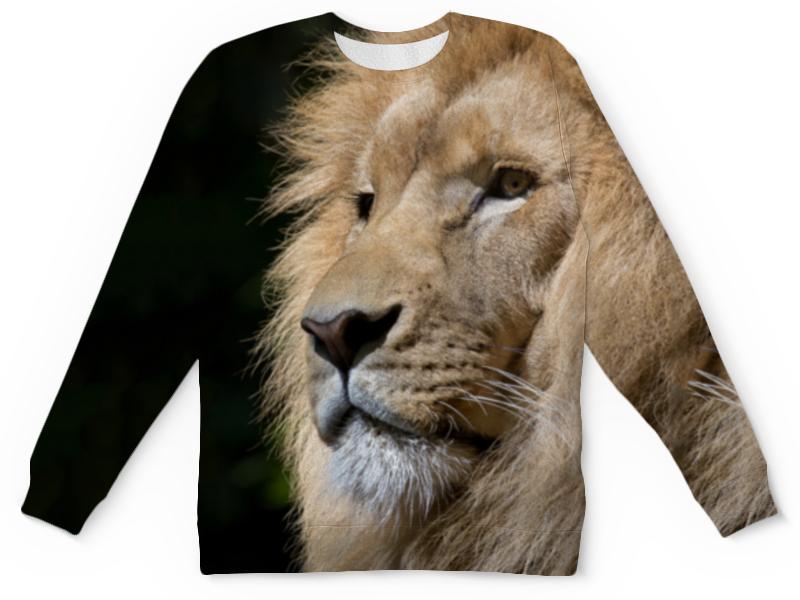 Детский свитшот унисекс Printio Хищник лев