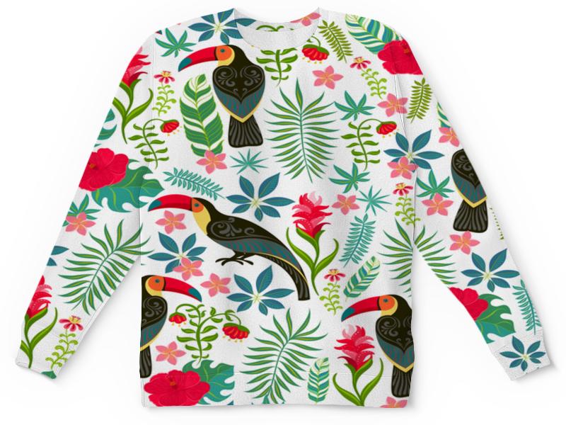 Детский свитшот унисекс Printio Птицы и тропики детский свитшот унисекс printio эльф и подарок