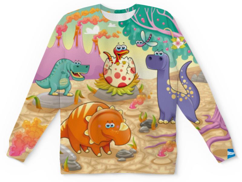 Детский свитшот унисекс Printio Забавные динозаврики детский