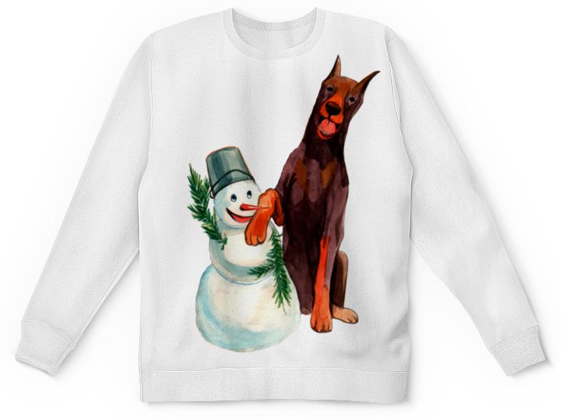 Детский свитшот унисекс Printio Забавная акварельная собака, символ 2018 года футболка классическая printio акварельная новогодняя забавная собака