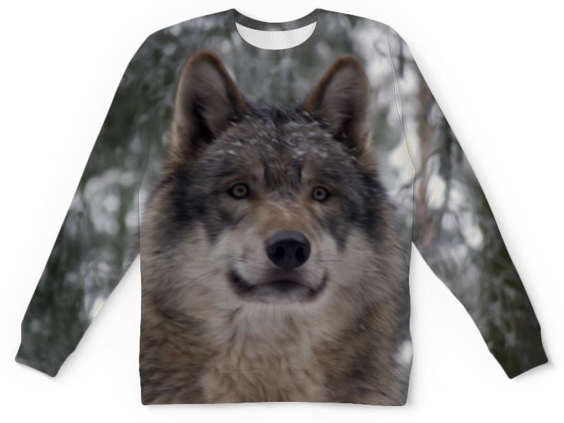 Детский свитшот унисекс Printio Волк в лесу колычев в голодный волк или герои городского дна