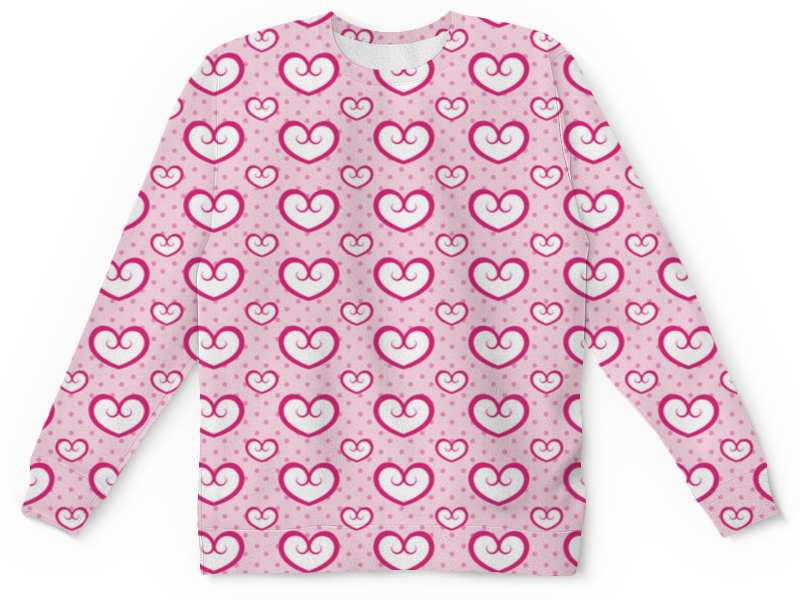 цена Детский свитшот унисекс Printio Узор сердец