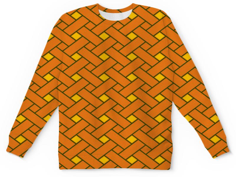 Детский свитшот унисекс Printio Оранжевые линии