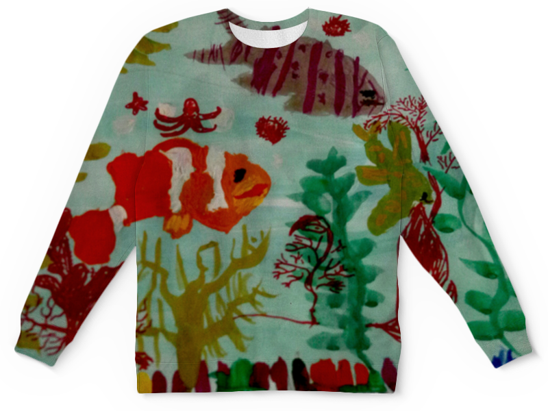 Детский свитшот унисекс Printio Рыбки интернет магазин рыбки в аквариуме