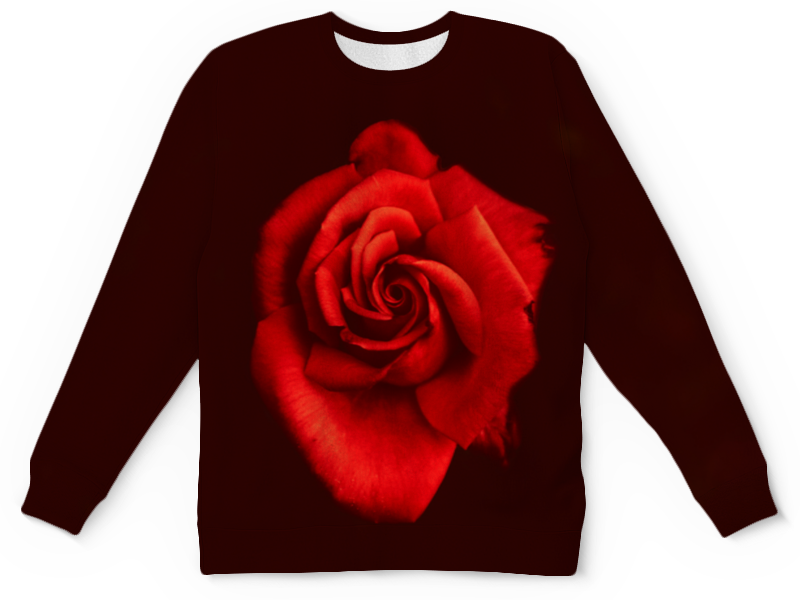Детский свитшот унисекс Printio Красная роза