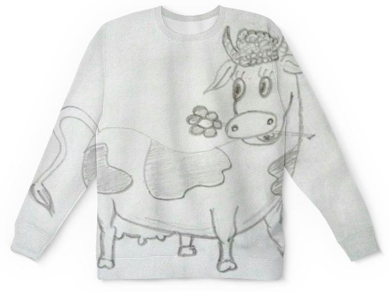 Детский свитшот унисекс Printio Веселая коровка цена