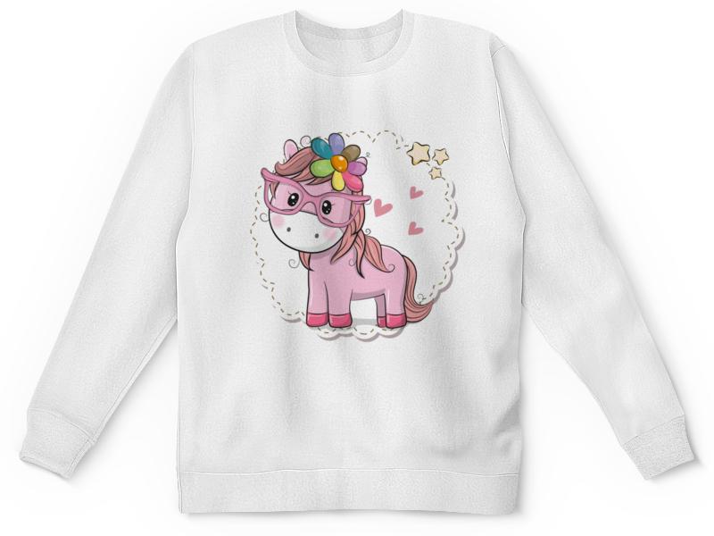 Детский свитшот унисекс Printio Розовое пони детский свитшот унисекс printio маленький пони мультсериал