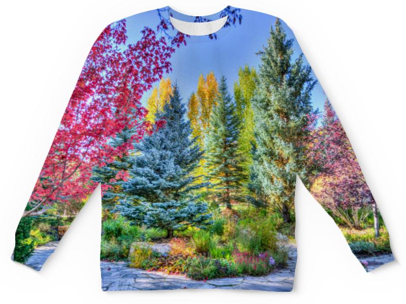 Детский свитшот унисекс Printio Деревья в красках цена