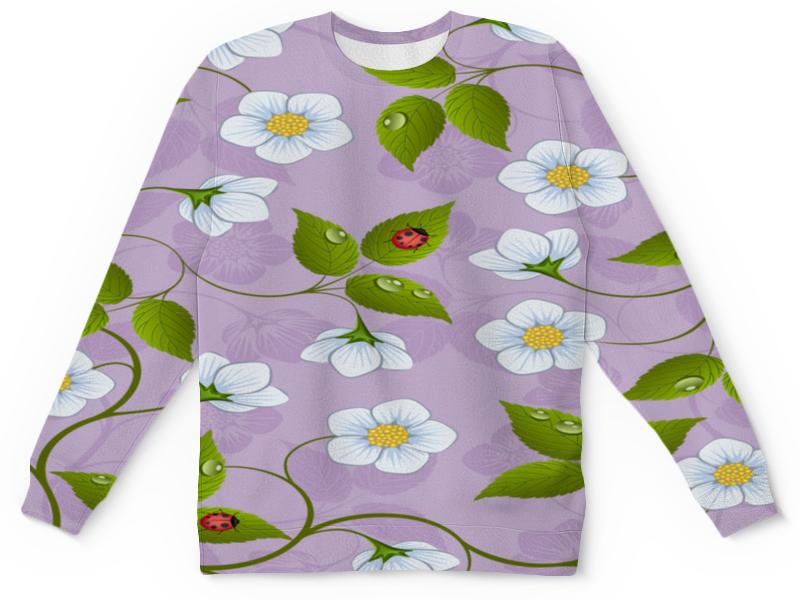 Детский свитшот унисекс Printio Цветки клубники детский костюм клубники 28 32