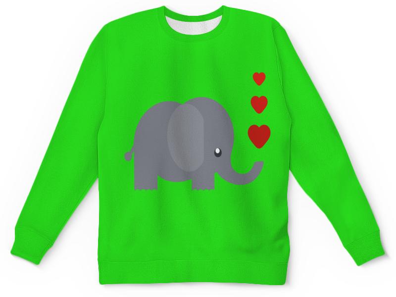 Детский свитшот унисекс Printio Милый слоник
