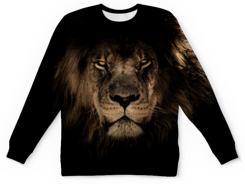 Детский свитшот унисекс Printio Хищный лев